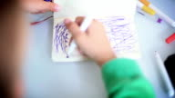 boy drawing on paper video