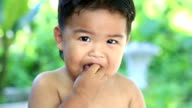 boy eating Cucumber video