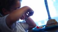 Boy Eating Food video