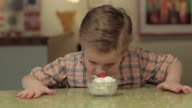 Boy Eating Ice Cream video