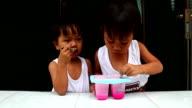 boy eating icecream video