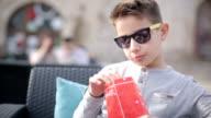 Boy enjoyment outdoors video