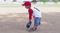 Boy fielding video