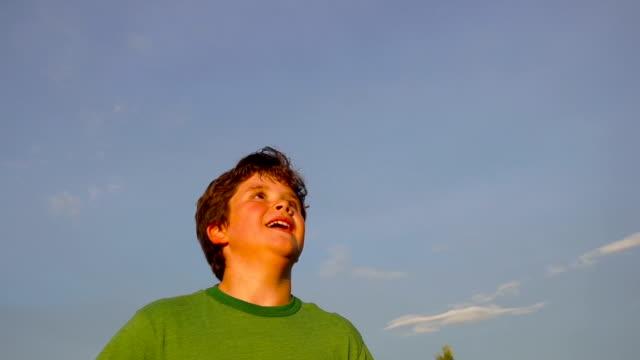 Boy Heading Soccer Ball video