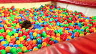 Boy  in a ball pool video