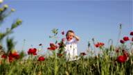 boy in poppy field video