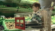 Boy in Shopping Cart video