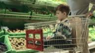 Boy in Shopping Cart video