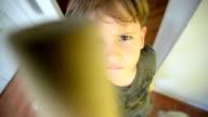 Boy looking at camera video