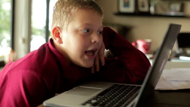 Boy on Computer video