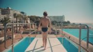 Boy on diving board video