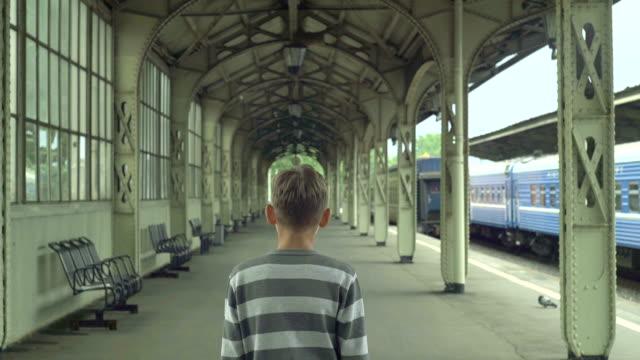 Boy On The Rail Station video