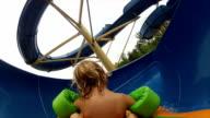 Boy On Water Slide video