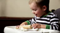 Boy playing with dough video