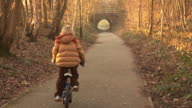 Boy Riding Bike / Bicycle - HD & PAL video
