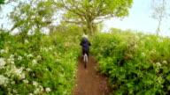 Boy riding bike video