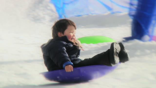 Boy Sledding 2 (HD) video