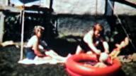 Boy Swimming In Kiddie Pool-1963 Vintage 8mm film video