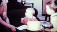 Boy Tries To Blow Out Birthday Candles-1965 Vintage 8mm film video