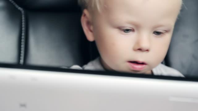 Boy using tablet video