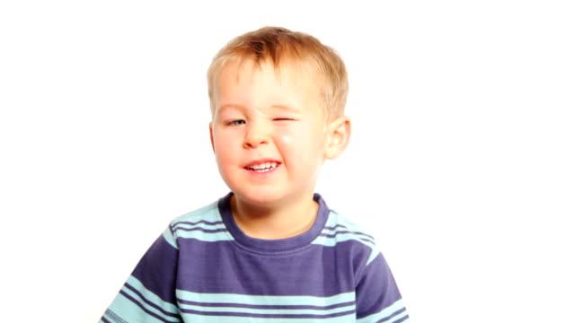 Boy winking video