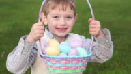 Boy with Easter basket video