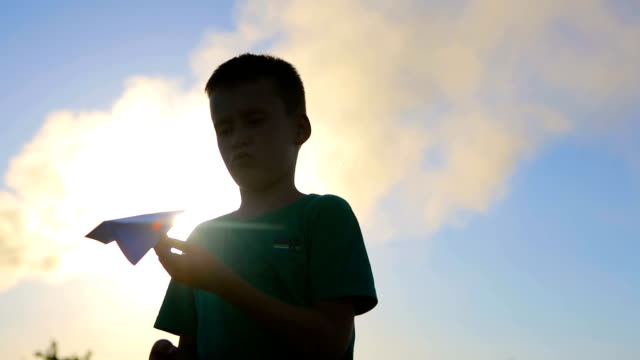 Boy With Origami Plane video