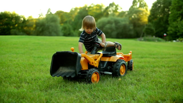 Boy with tractor video