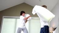 Boys Having Pillow Fight video