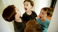 Boys making faces. video