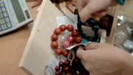 Bracelets made out of wooden beads fit for all video
