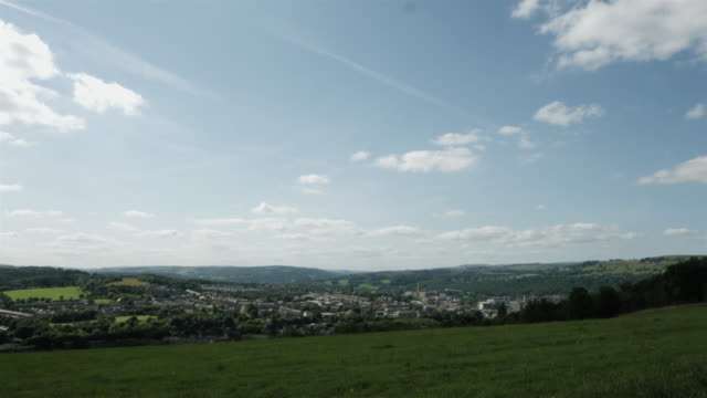 Bradford park time-lapse with clouds video