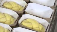 braiding brioche dough portions video
