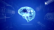 Brain animation. Medical video background video