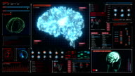Brain connected CPU chip circuit in digital display, artificial intelligence video