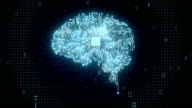 Brain CPU chip, grow artificial intelligence. video