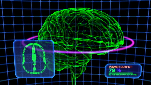 Brain Scan Computer Display Simulation, HD Element video