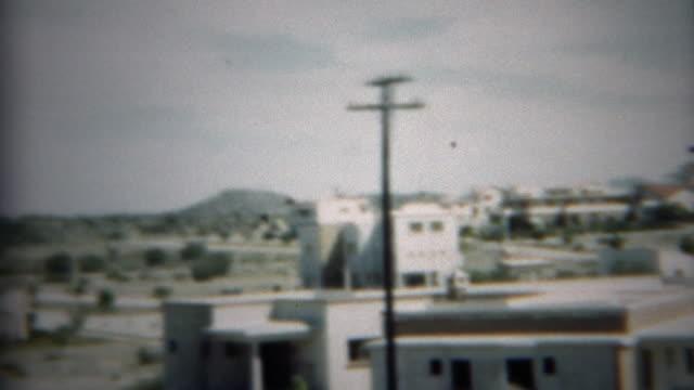 1948: Brand new wealthy desert residential housing community. video