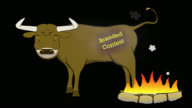 Branded Content-Bull-Animated-Transparent video