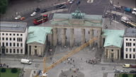 Brandenburg Gate  - Aerial View - Berlin,  Berlin,  Stadt,  Germany video