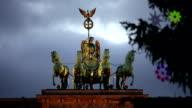 Brandenburg Gate with christmas tree video