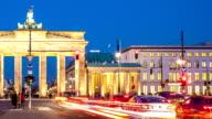 Brandenburg Gate with traffic video