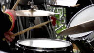 Brass band drummer playing drums video