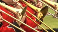 Brass band playing Trombone - HD & PAL video