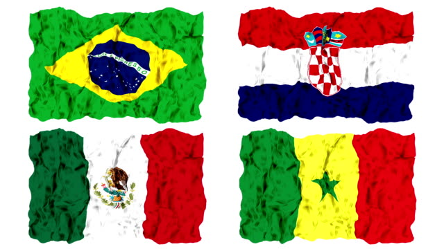 Brazil 2014 group A flags video