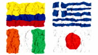 Brazil 2014 group C flags video