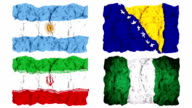 Brazil 2014 group F flags video