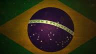 Brazil Flag - Grunge. 4K video