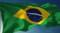 4K Brazil Flag - Loopable video