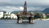 Brazil - Oil Rig In Rio de Janeiro video